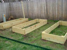 Lumber raised garden beds