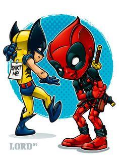 Lil Deadpool 'n' Logan by lordmesa.deviantart.com on @deviantART