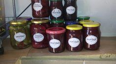 2016- zavařování okurek,paprik, a výroba džemu Salsa, Jar, Food, Red Peppers, Eten, Jars, Meals, Salsa Music, Drinkware