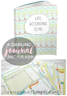 A darling child's journal for kids with daily prompts, fun fill-in-the-blanks, and spaces for them to draw and doodle!