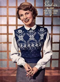 PDF Knitting pattern for a Fair Isle Norwegian by place4patterns, £2.50