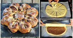 Leckerer Hefestern mit Nutellafüllung - so geht's Cake & Co, Brunch, Dessert Recipes, Desserts, Pretzel Bites, Sausage, Food And Drink, Bread, Dishes