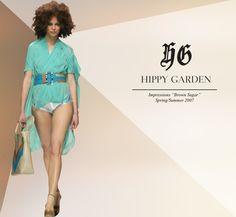 "Hippy Garden Masarykova 5 www.hippygarden.com  Spring/Summer 2007 – ""Brown Sugar"" http://hippygarden.net/the-brown-sugar-springsummer-2007/?lang=en  #fashion #brand #design #hippygarden #croatia #masarykova5 #brownsugar #blue #dress"