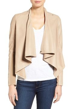 $425 Free shipping and returns on LAMARQUE 'Madison' Drape Front Suede Jacket at Nordstrom.com. Deliciously soft suede lends lovely drape to an elegant, lightweight jacket styled with cascading front panels. Stretch-knit fabric under the sleeves enhances the fit and comfort.