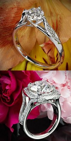 1. Ritani Modern Tulip Diamond Engagement Ring with a 0.830ct  2. 5.05 ct H VS2…