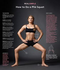 Consider the plié​ squat your shortcut to achieving the lithe, gently muscular limbs of a dancer without ever stepping foot in a ballet class.