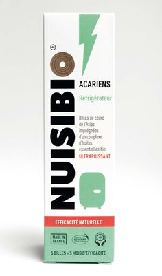 Agence Cécile Halley des Fontaines - Global design agency - Nuisibio - anti - acarid - packaging - household products happy - clean - healthy - lightning - powerful - cedar marbles - fridge