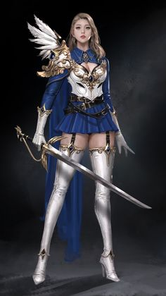 Woman Killer Fantasy World Best Pictures Fantasy Art Women, Dark Fantasy Art, Anime Fantasy, Fantasy Girl, Fantasy Artwork, Fantasy Female Warrior, Female Knight, Female Art, Anime Warrior Girl