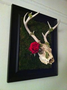 Day of the Dead Inspired Deer skull by anniepnyc on Etsy, $175.00