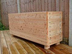 Wooden troughs, Garden trough, garden planter, extra large planter