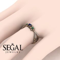 Rose Gold Engagement Ring by Segal Jewelry Elegant Engagement Rings, Princess Cut Engagement Rings, Round Diamond Engagement Rings, Antique Engagement Rings, Wedding Ring Bands, Engagement Jewellery, Wedding Engagement, Sapphire Rings, Blue Sapphire