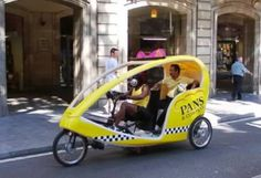 Bicycle taxi in Spain.