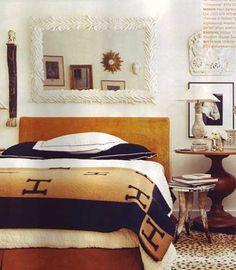 Hermes blanket and horn side table