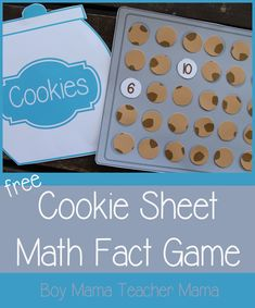 Teacher Mama: FREE Printable Cookie Sheet Math Fact Game {After School Linky}
