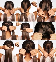 How to fishtail your own hair without being  able to see!