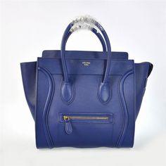 623ff2777d Celine Luggage Handbag In Navy