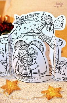 Christmas Nativity, Christmas Crafts, Christmas Cookie Icing, Art For Kids, Crafts For Kids, Owl Patterns, Sunday School Crafts, Holy Night, Winter Holidays