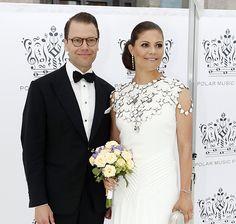 Crown Princess Victoria dazzled in white at the Polar Music Prize