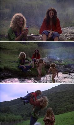 Robert Plant and his family. Sadly, his son Karac died at the age of 5 from a stomach virus.