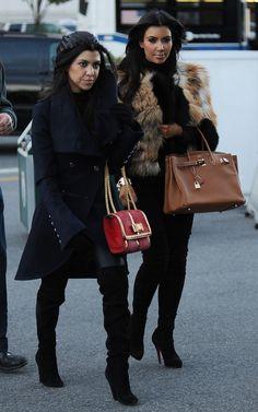 Kourtney & Kim Kardashian.