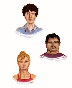 An Abundance of Katherines Characters: Colin Singleton, Hassan Harbish and Lindsey Lee Wells