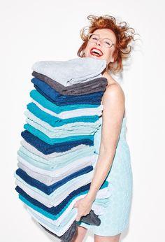 De handdoeken van HEMA zijn van 100% katoen gemaakt. Dat maakt ze lekker zacht en dik. #HEMA #badkamer #handdoeken