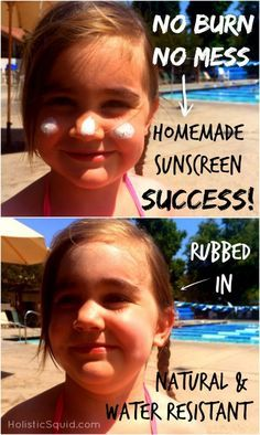 Homemade Sunscreen – Water Resistant and Super Easy to Make #homemade #sunscreen #DIY