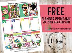 Free Printable Tokidoki Planner Stickers from Victoria Thatcher