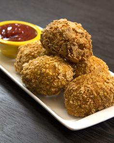 Nuggets de frango com bacon