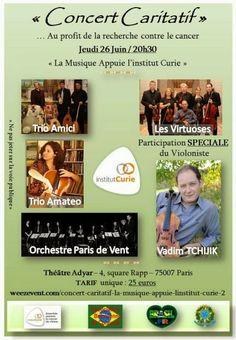 26/06 ♥ CONCERT CARITATIF ♥ La Musique Appuie l'Institut Curie ♥ Paris ♥  http://paulabarrozo.blogspot.com.br/2014/06/2606-concert-caritatif-la-musique.html