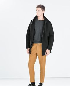 ZARA - SALE - THICK OCHRE TROUSERS