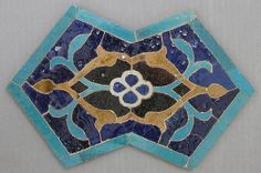 Double Pentagon Shaped Tile Object Name: Tile Date: 15th century Geography: Iran Culture: Islamic Medium: Stonepaste; glazed