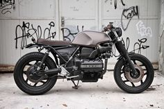 Old school, super cool: a BMW cafe racer.