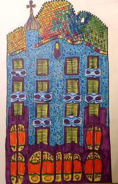 Ilustración Casa Batlló.