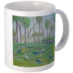 PEACOCKS in Old Florida Mug