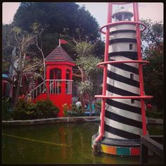 Lighthouse at Taman Pintar Yogyakarta, Indonesia.