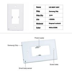 Outlet Wall Plate With LED Night Lights-No Batteries Or Wires – miucici Led Night Light, Night Lights, Light Building, Home Gadgets, Wall Outlets, Outlet Covers, Light Sensor, Easy Install, Diy Home Improvement