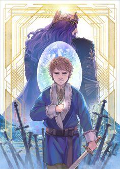 Beautiful artwork | Hobbit Bilbo Baggins Thorin Oakenshield