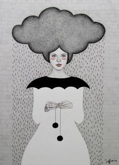 Rain by Sofia Bonati on Behance♥•♥•♥