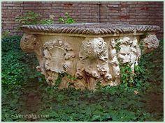 Le puits du jardin du Palais Papadopoli dans le Sestiere de San Polo à Venise