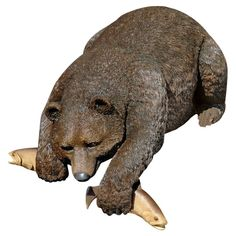 Design Toscano Catch of The Day Grand Bear Statue & Reviews | Wayfair