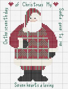 Point de croix ❤️*❤️ Schema punto croce Santa Day 05
