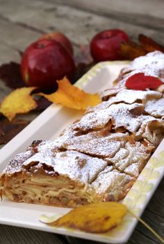 "Apple recipes--including a ""healthier"" version of carmel apple.... Classic Vienna Apple Strudel or Wiener Apfelstrudel"