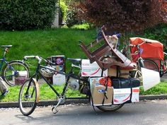 pedal pushers are hauling car- and pickup-worthy loads on cargo bikes and trikes