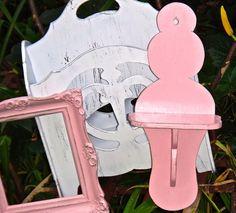 Shelf, Shabby Shelf, Pink Shelf, Wooden Shelf, Knick Knack, Rustic, Boho Chic Decor, Shabby, Small Cottage Shelf, 1970s Decor, Wall Hanging by CasaKarmaDecor, $24.99 USD