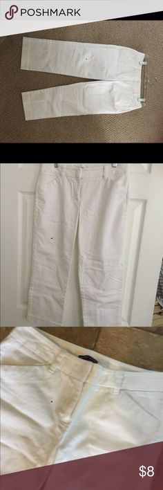 New York & Co White Cropped Pants Nice condition/ Sz 4 New York & Company Pants Ankle & Cropped
