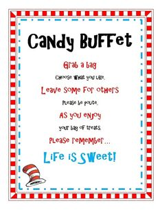 dr seuss baby shower ideas | Dr Seuss Cat in the Hat Birthday or Baby Shower Party ... | Dr. Seuss