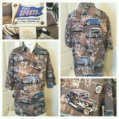 f27cf97f Reyn Spooner Ford Hot Rod Cars Hawaiian Camp Shirt Size XXL Men #ReynSpooner  #Hawaiian