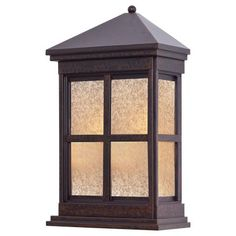 Berkeley™ - 1 Lt Pocket Lantern - 1 Light Pocket Lantern in Rust Finish w/Double French Scavo Glass