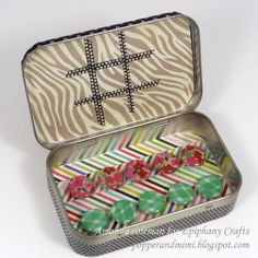 Popper and Mimi Paper Crafts: Travel Tic-tac-toe Altoids Tin
